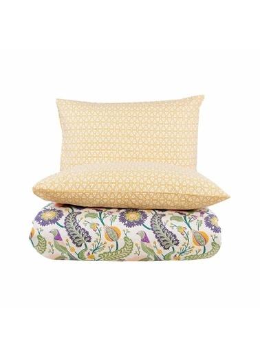 Bella Maison %100 Pamuk Ranforce Norah King Size Nevresim 240x220 cm Yeşil